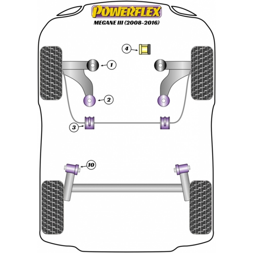 Powerflex Pff60 720 Upper Right Engine Mount Insert For