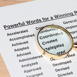 use key words for writing success