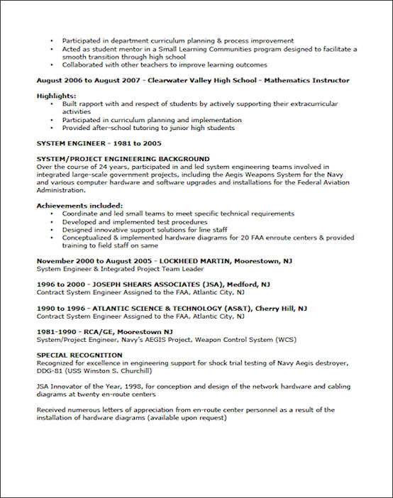 Sample Resume For Teaching. Resume Examples Resume Examples