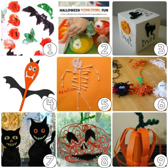 Lets get down and trick or treat with Halloween crafts for kids!