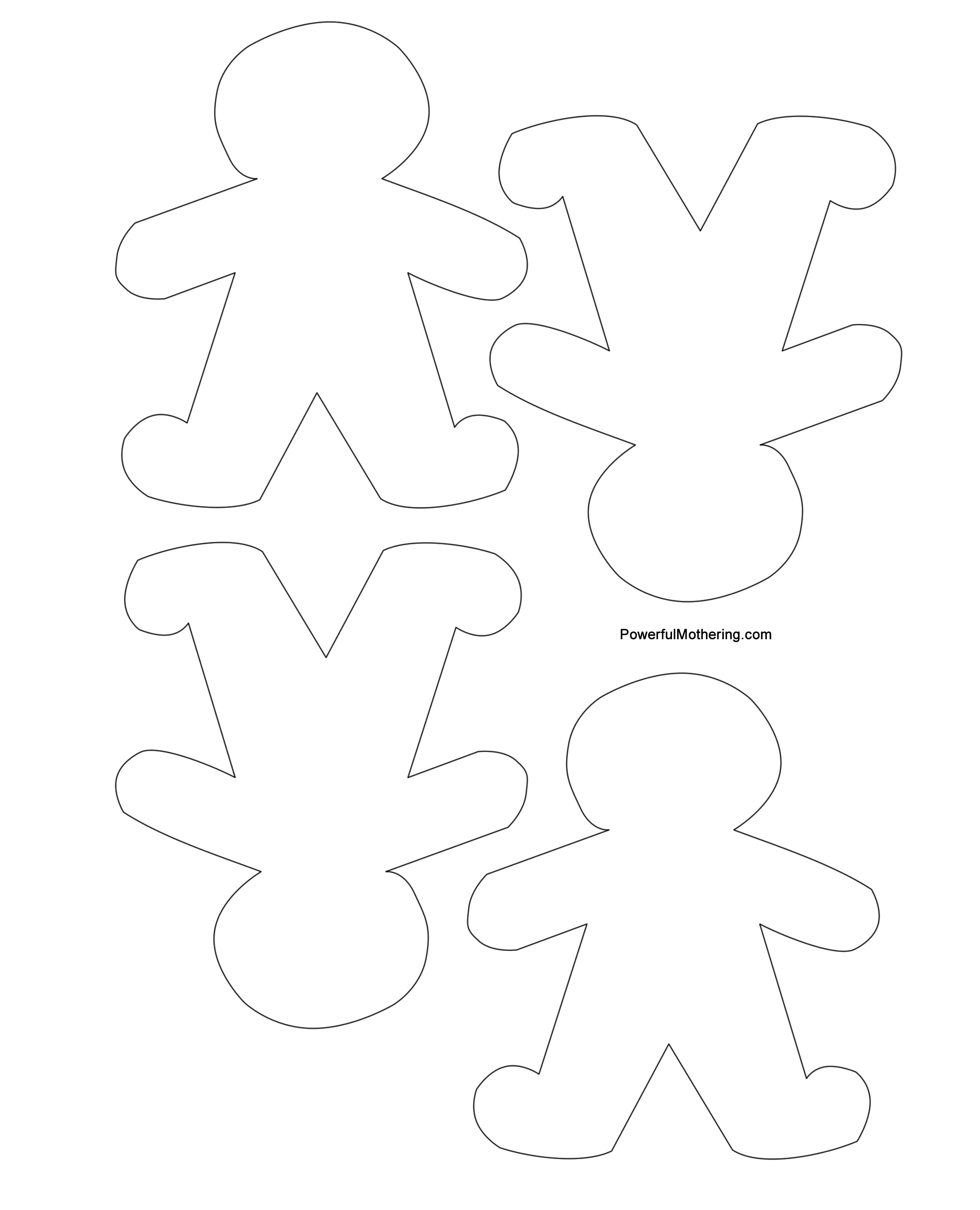 Gingerbread Men Christmas Tree And Star Printables