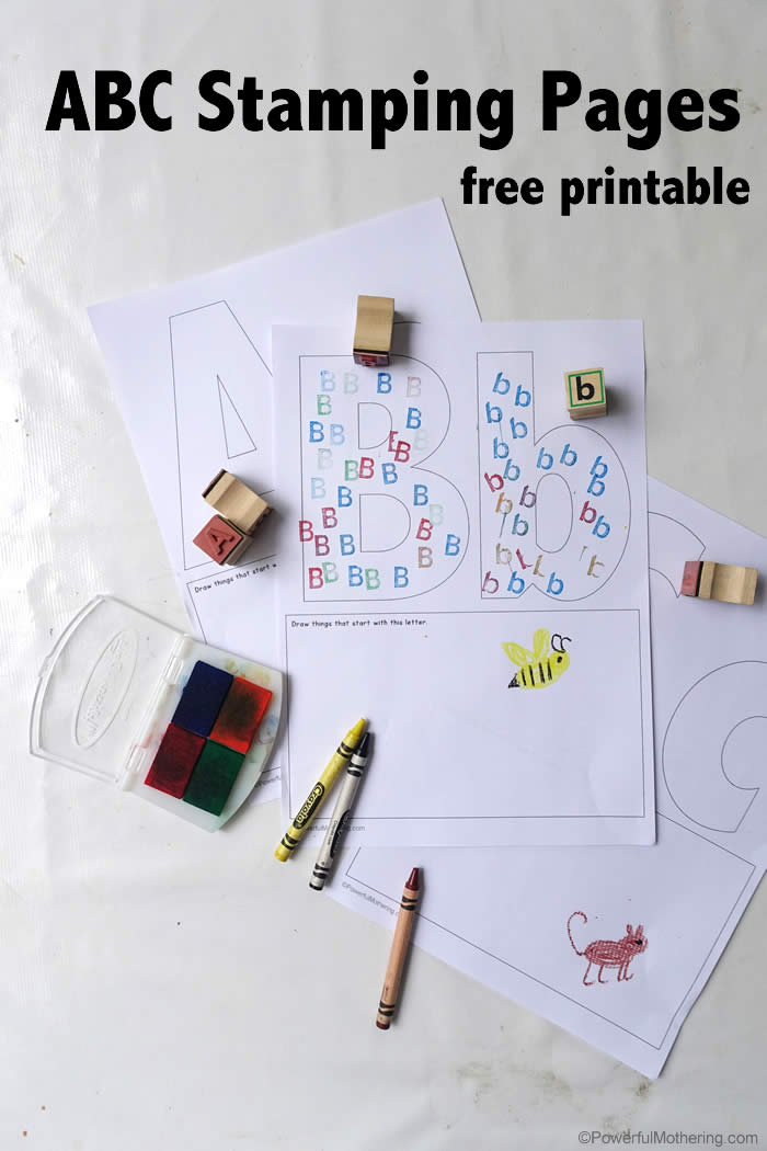 Free ABC Worksheets For Preschoolers ABC Stamping