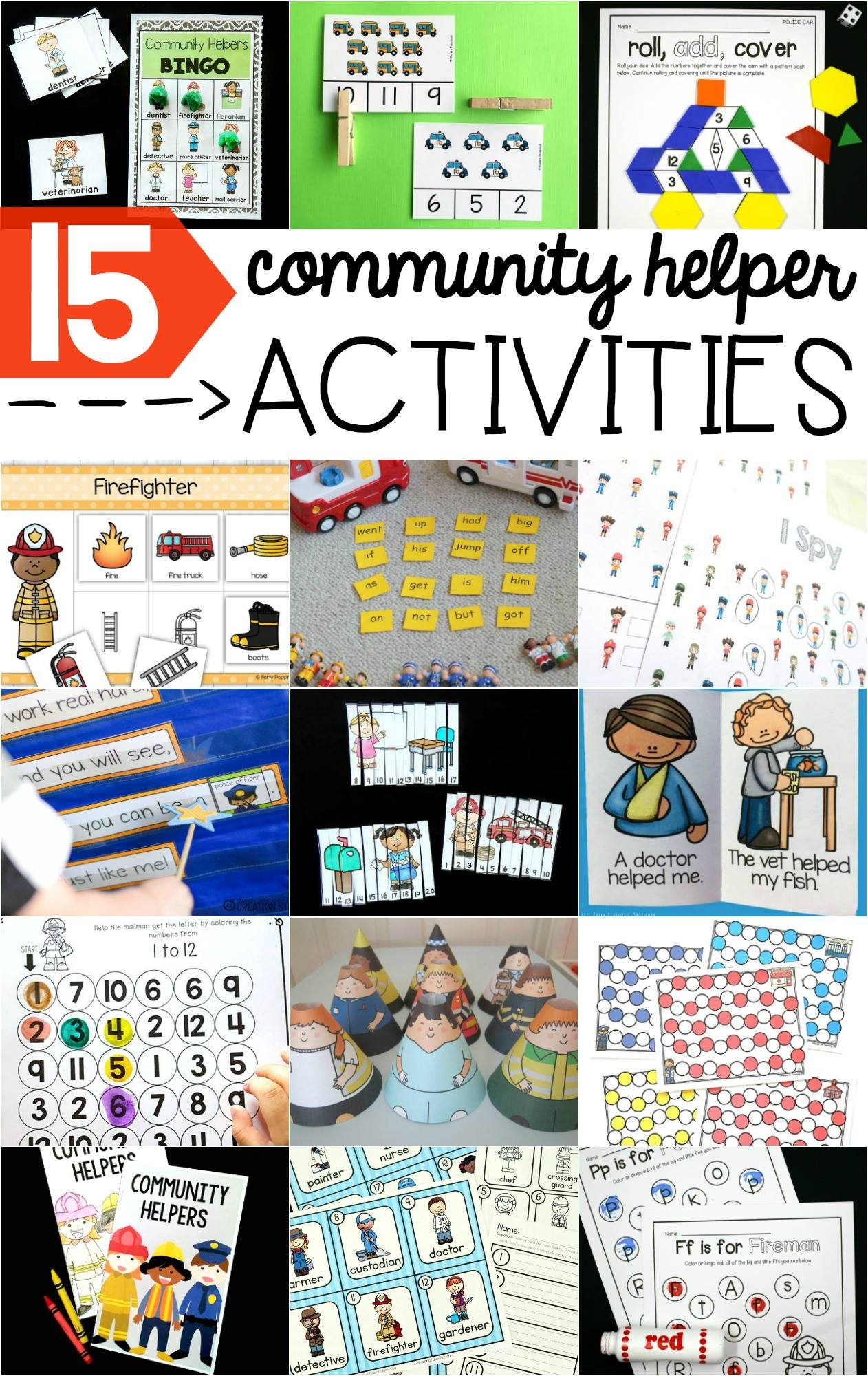 I Spy Community Helpers Printable