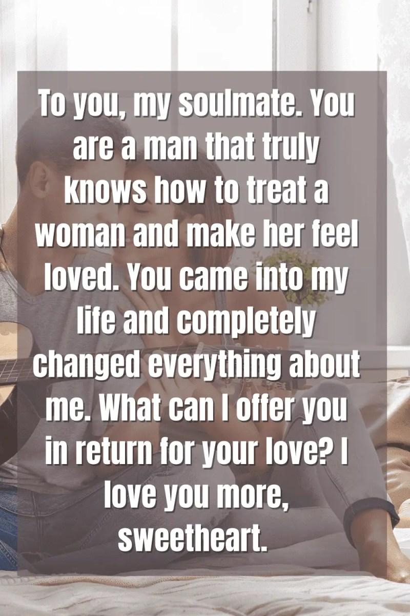 Love letter for him