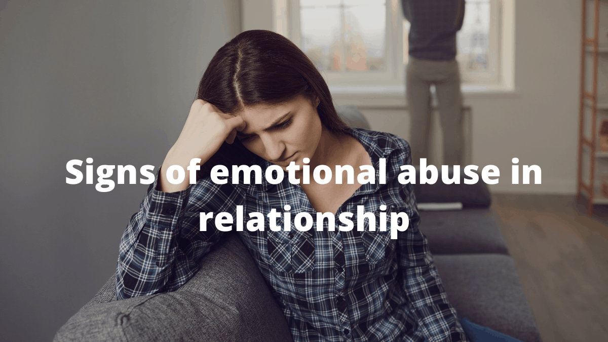 signs of emotional abuse in relationship