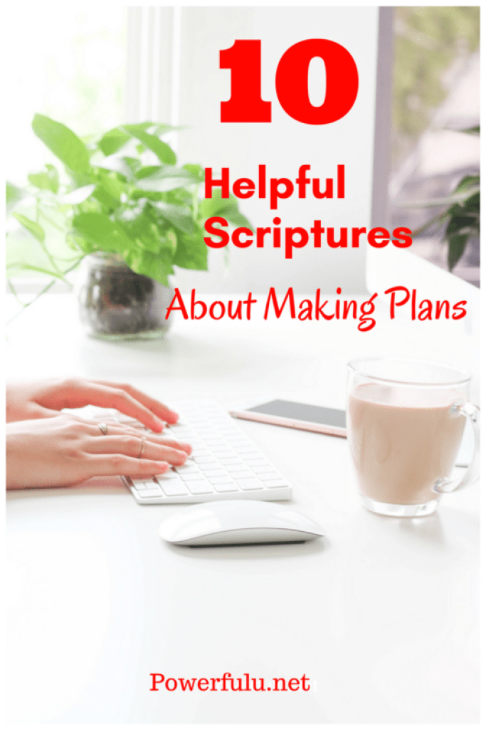 what the bible says about planning