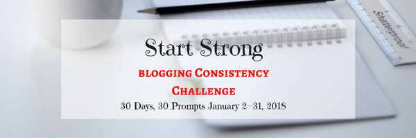 blogging consistency challenge