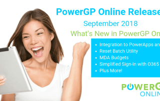 PowerGP Online September 2018 Release