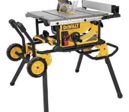 """DeWalt DWE7491RS 10"""" Jobsite Table Saw with 32-1/2-Inch Rip Capacity and Rolling Stand"""