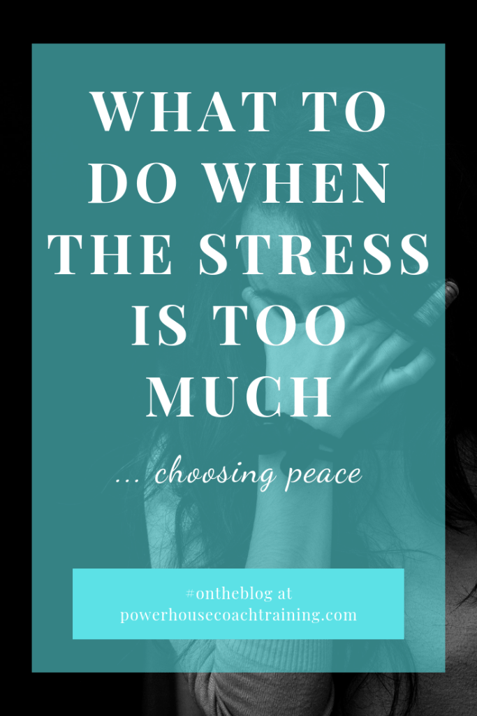 what to do when the stress is too much - share to Pinterest