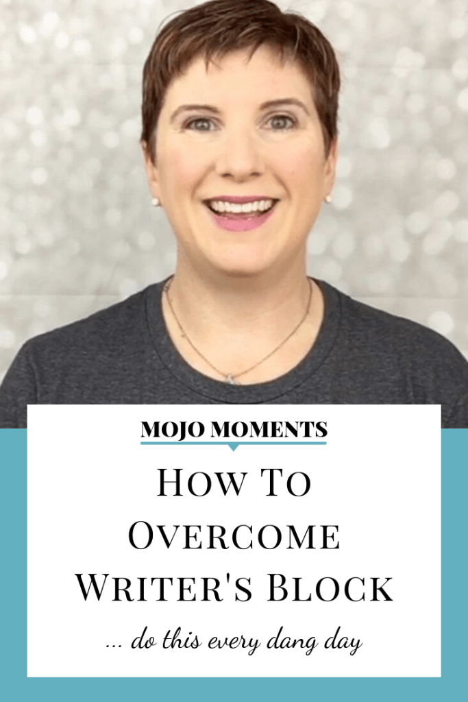 This week's Mojo Moment from Vanessa Long is all about how to overcome writer's block.