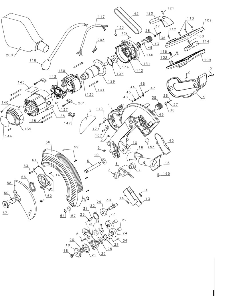Parts for dw706 type 1 powerhouse distributing