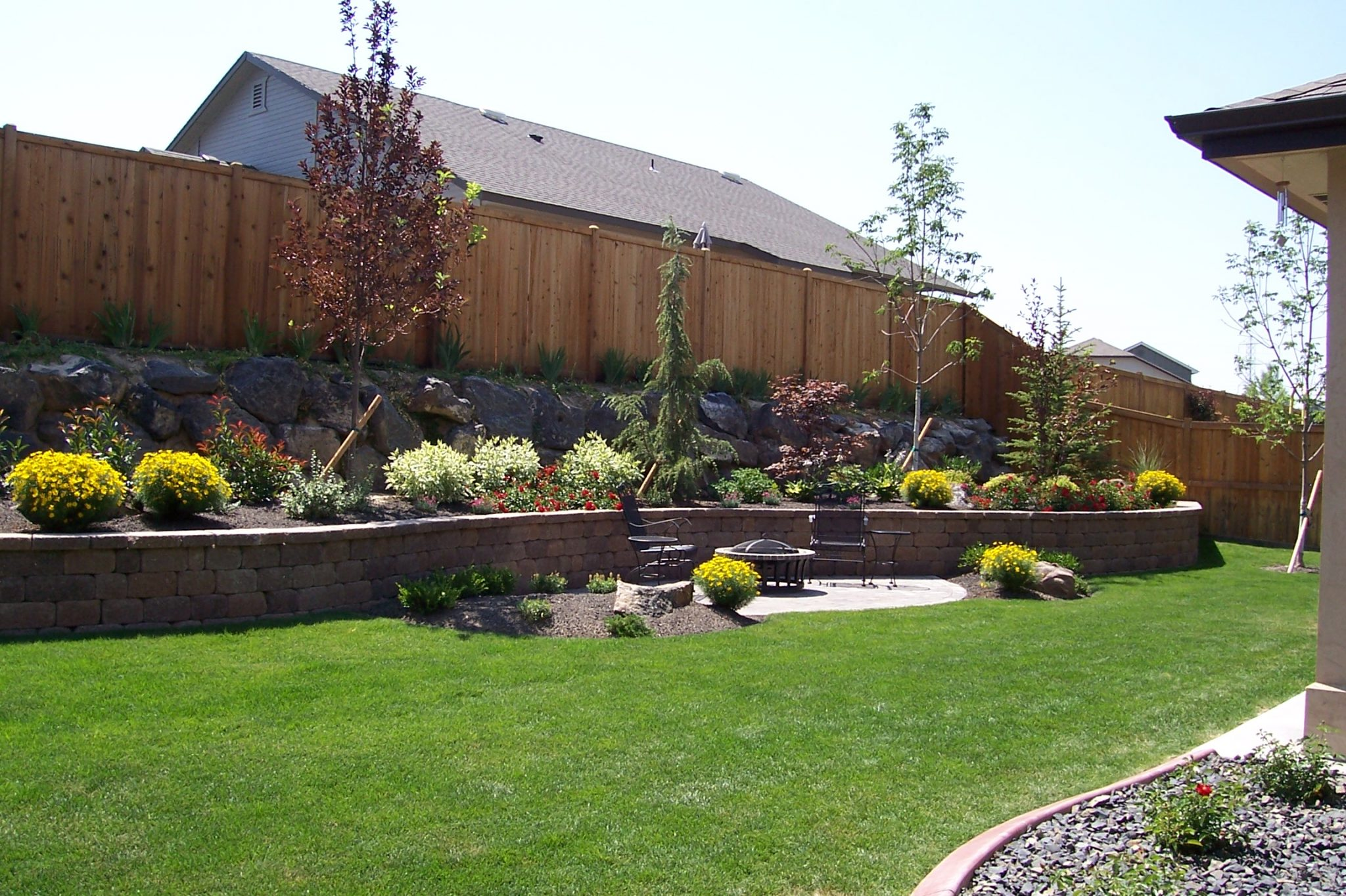 meridian backyard landscaping