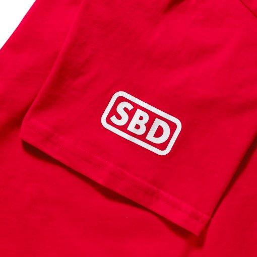 Logo sbd su manica t-shirt edizione estiva