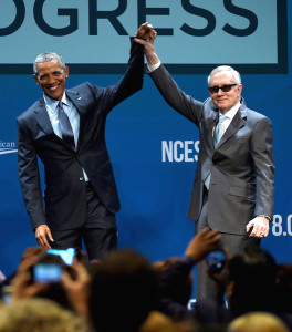Barack Obama and Harry Reid at the Cronyism Summit in Las Vegas