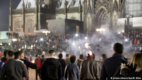 Cologne's Cathedral Square on New Year's Eve