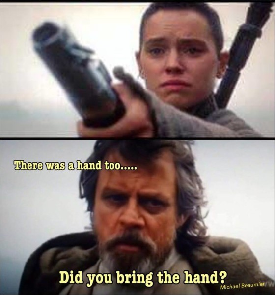 Bring the hand?