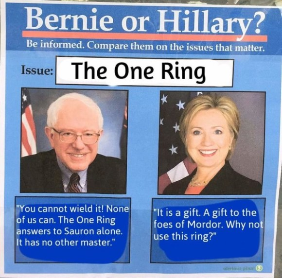 Bernie on the One Ring