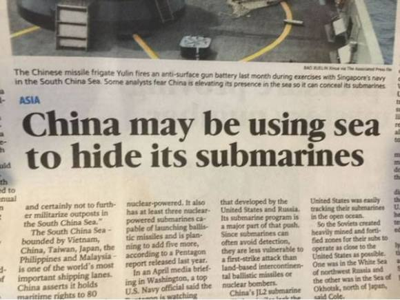 China Hiding Submarines