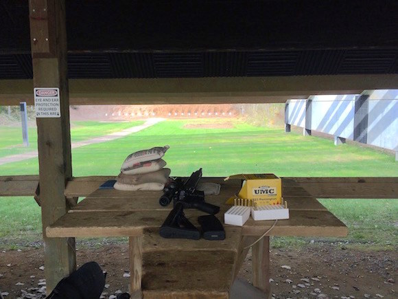 My AR-15 at a gun range