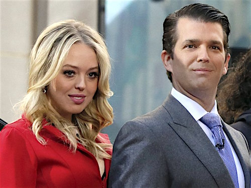 Tiffany Trump and Donald Trump, Jr.