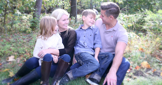 Stewart and Heather Mills with children