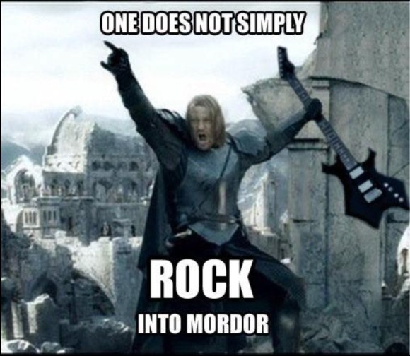 Rock into Mordor