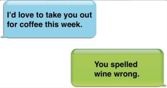 Spelled Wine wrong