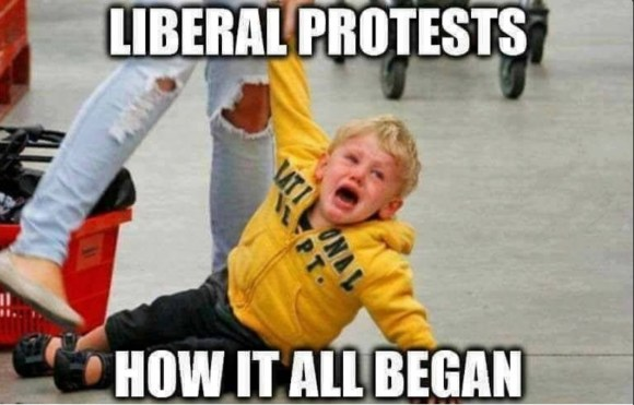 How Liberal Protests Begin