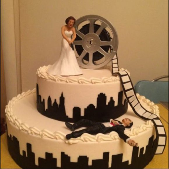Film Noir Wedding Cake