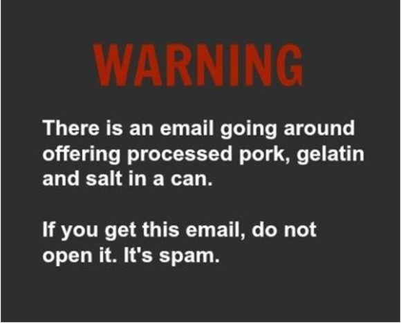 Spam Warning