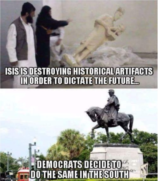 Destorying Statues