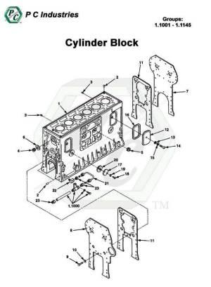 Cylinder Block  Series Inline 71 Detroit Diesel Engines