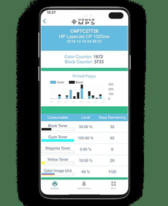 PowerMPS mobile app