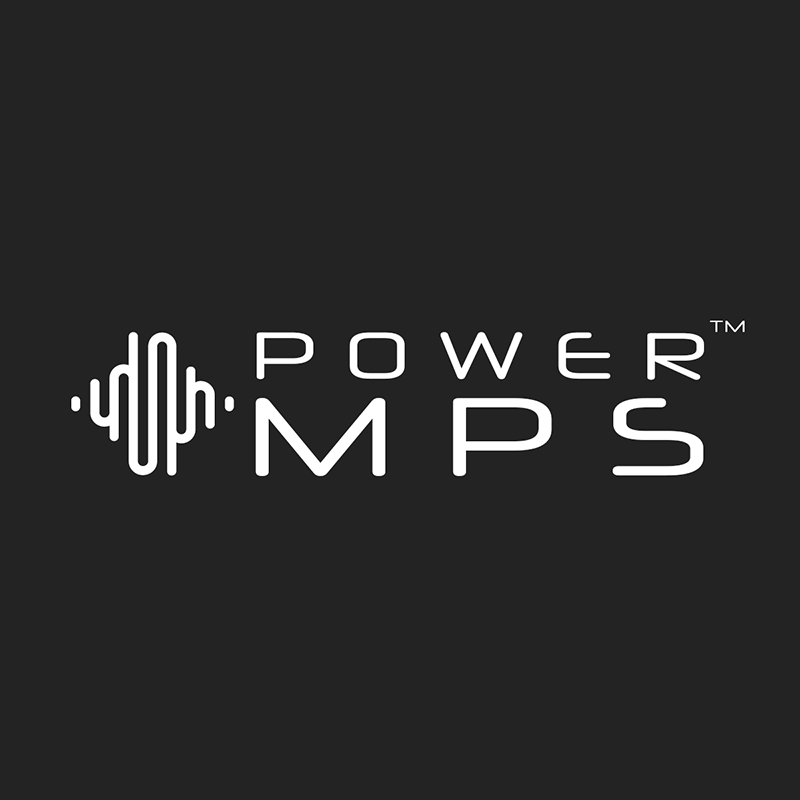 PowerMPS Logo - White on Black
