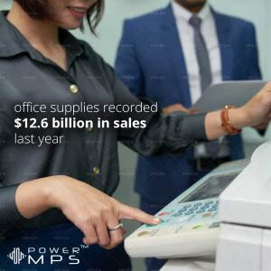 Office Supplies Sales Last Year in the USA