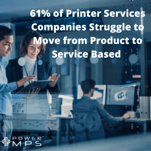 Companies struggle to change from product to service based in their business