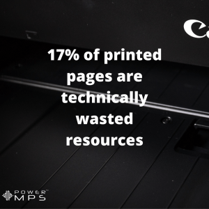 How much printer waste is there?