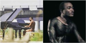 Brymo Goes Naked As He Rocks G-String While Playing The Piano In Public (See Photo)