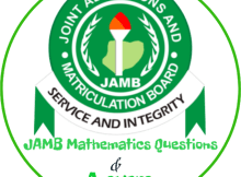 JAMB Mathematics Questions 2018