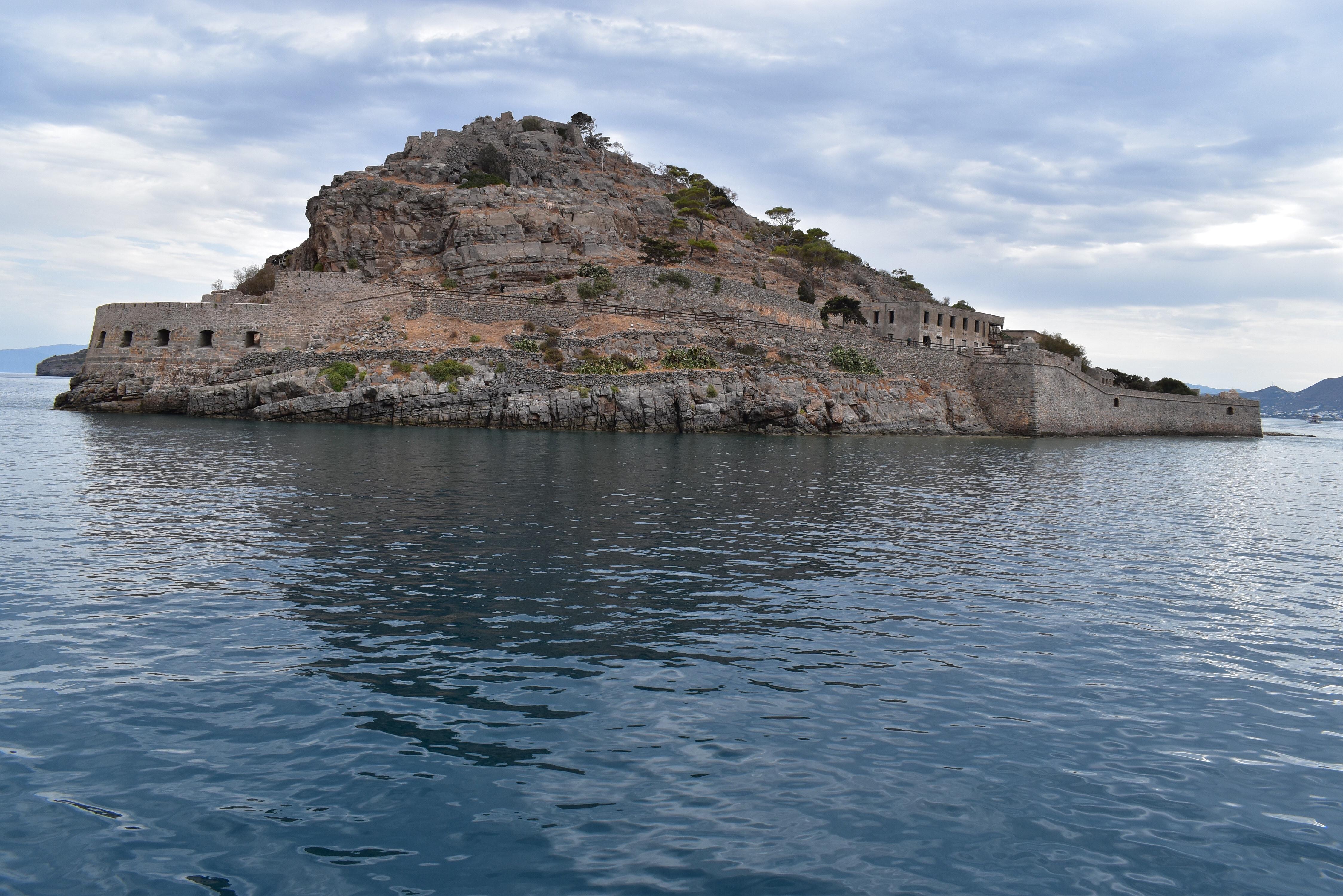 Leprainsel Spinalonga vom Meer aus