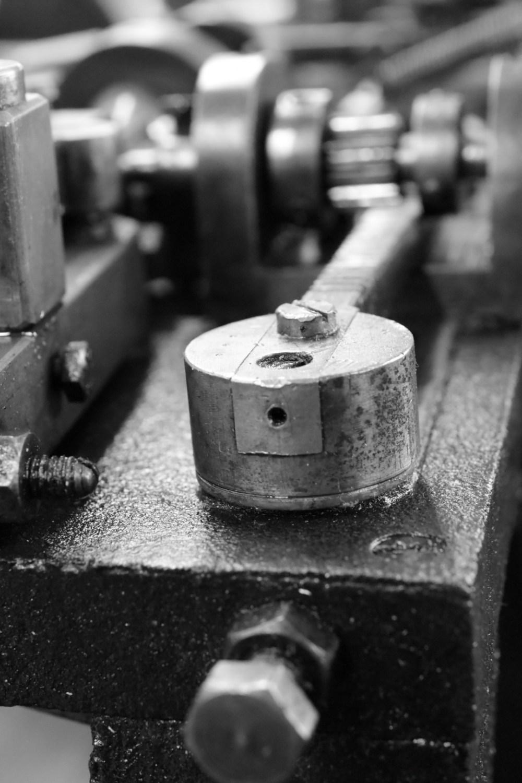 Teil eines metallischen Gerätes aus dem Industriedenkmal Jakob Bengel