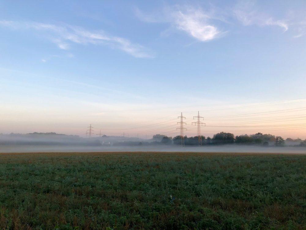 Landschaft am frühen Morgen