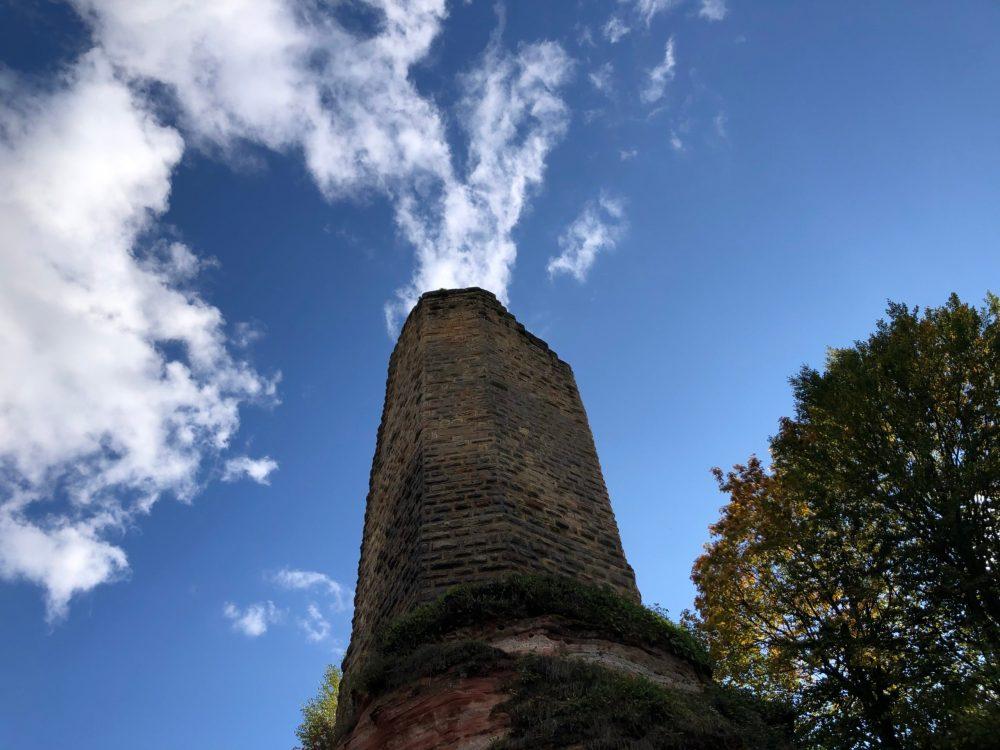 Wolken über dem Turm