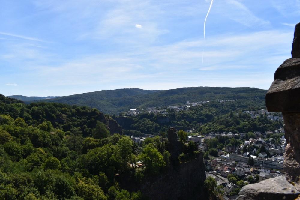 Ausblick auf den Wald und Burg Nohfelden