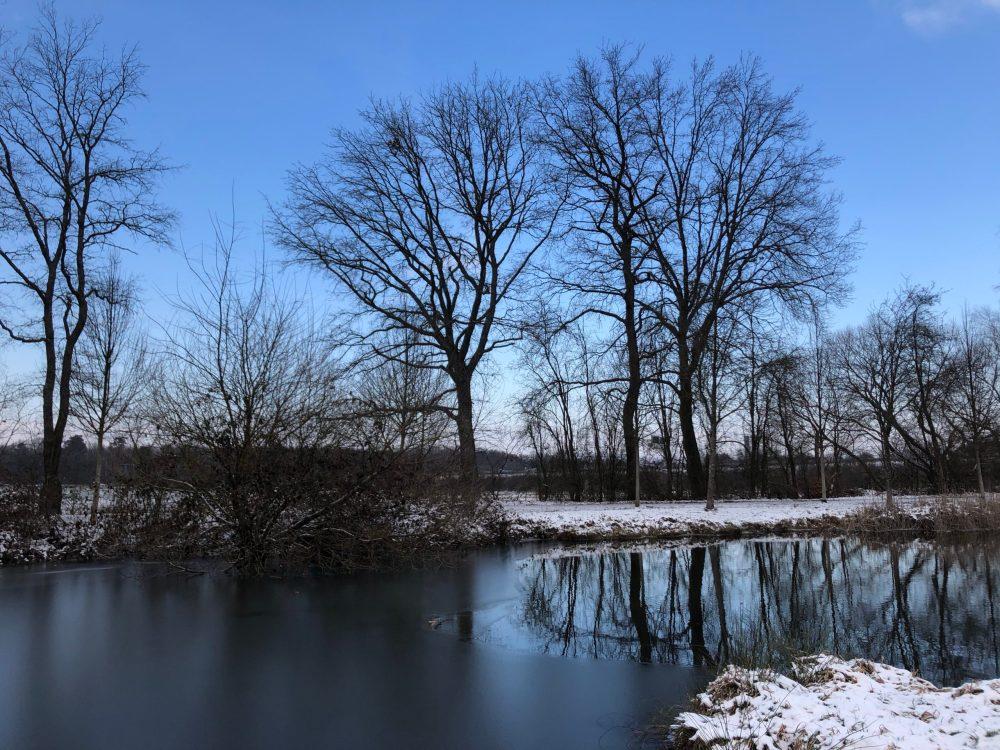 """""""Perfect reflections"""" auf der eisfreien Fläche"""