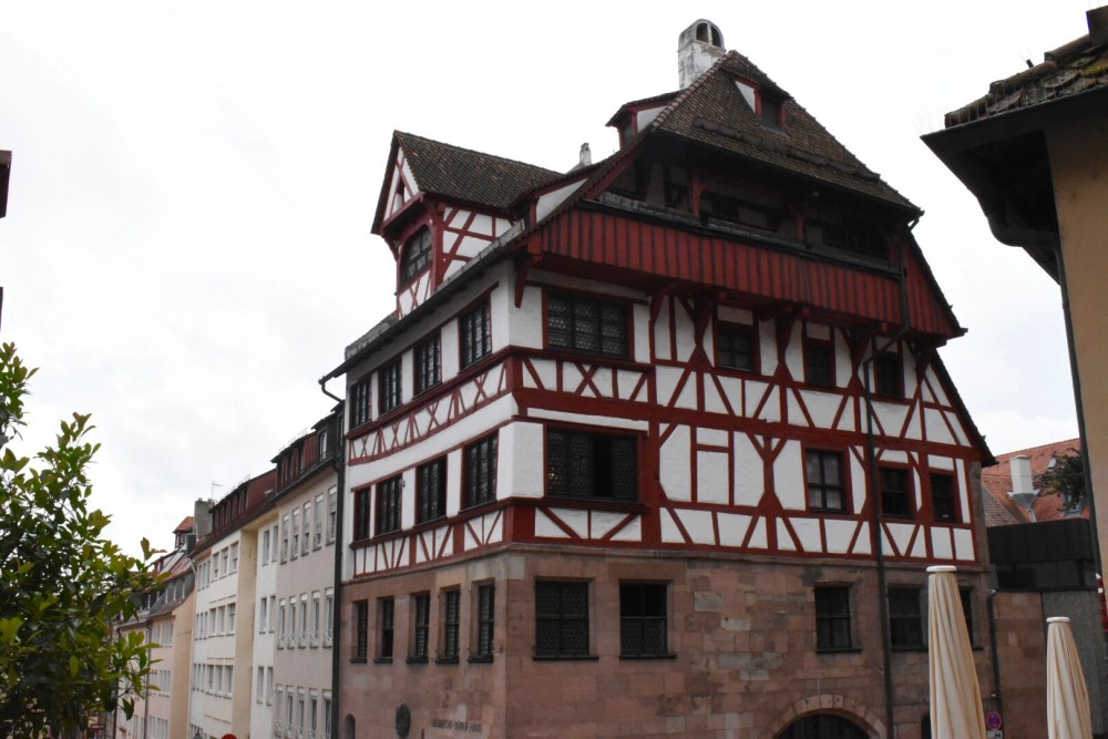Das Albrecht Dürer Haus in Nürnberg bei der Burg