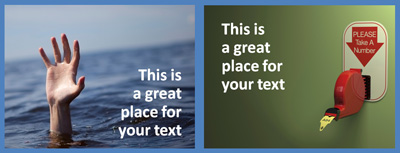 Empty space gives you a great spot to place text. (c)Thinkstock