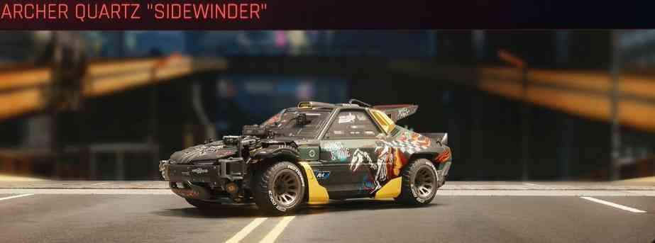 Cyberpunk 2077 Vehicle Guide cyberpunk 2077 archer quartz sidewinder
