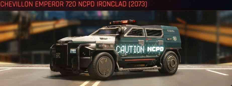 Cyberpunk 2077 Vehicle Guide cyberpunk 2077 chevillon emperor 720 ncpd ironclad 2073